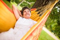 Grandma in hammock
