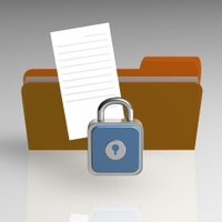 Padlock folder and file