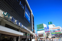 View of Shinjuku Station East Exit area