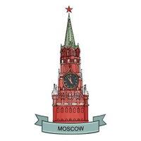 Spasskaya tower isolated