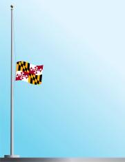 Flag of Maryland at Half-Staff