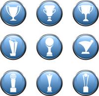 Nine Trophy athletics royalty free vector arts