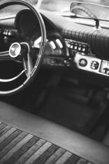 Vintage American Car Dashboard Interior