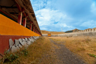 Tibetan Buddhism temple inside