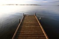 Boat dock on a Saskatchewan Lake