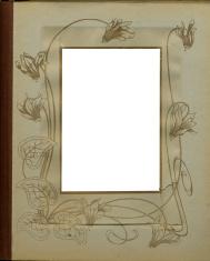 Antique photo album page