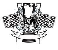 Grunge racing emblem