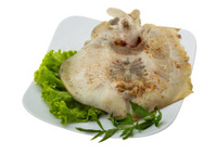 Grilled ray fish