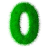 Green grass font number 0