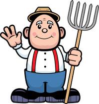 Farmer Waving