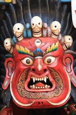 Masken von Göttern in Nepal
