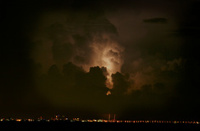 Lightning over Tampa Bay