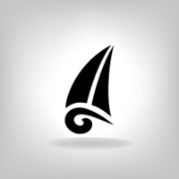 the stylized ship, boat