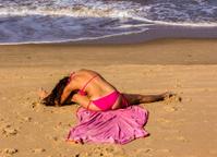 yoga on the beach of Goa