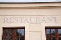 Silver Restaurant Sign