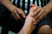 Getting Thai foot massage