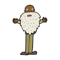 cartoon bearded old man
