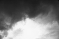 Abstract rainy clouds in black and white.