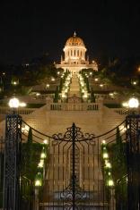 The Bahai temple, Haifa, at night