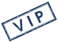 vip blue square stamp