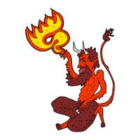cartoon traditional devil