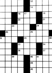 Blanks on Crossword Puzzle