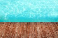 Swiming Pool And Wood
