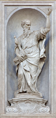 Venice - Statue of Saint Paul  by Giovan Maria Morlaiter