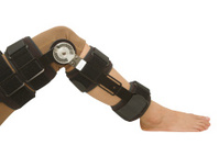 Adjustable angle knee brace support for leg