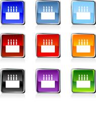 birthday cake icon in nine colors