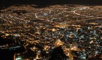 View of Bogota at night