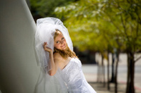 Bride Reclining on Pillar