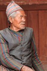 Alter Mann aus Nepal