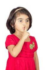 baby  model finger on mouth