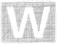 Freehand Typography Letter W