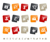 Business & Office icons Í Sticky series