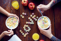 Romantic healthy breakfast
