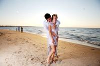 beach wedding summer blended family