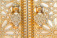 Oriental door detail in Morocco, North Africa