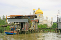 Kampong Ayer and Sultan Omar Ali Saifudding Mosque