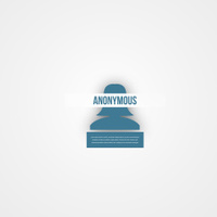 Abstact people template. Anonymous icon.