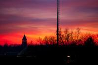 Sunset, bell tower