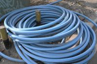 blue circling pipe