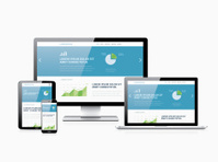 Flat modern website analytics search engine optimization respons