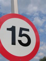 Speed Limit 15 MPH