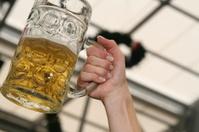 Woman with beer mug