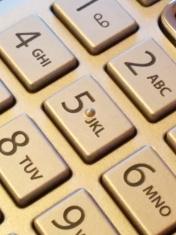Keypad on phone