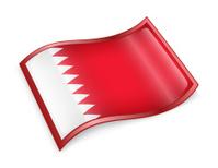 Bahraini Flag icon, isolated on white background