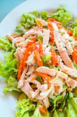 sausage spicy salad