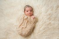 Newborn Baby Girl in Pouch